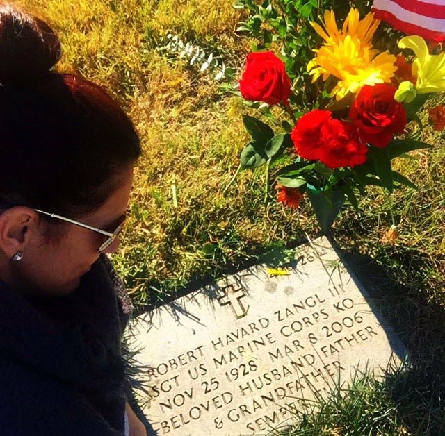 The Chosin Few - Vicki Zangl visits her father's grave