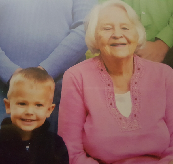 Callen Johnson and his grandmother who has alzheimers